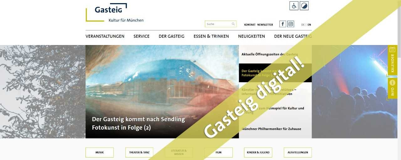 Gasteig digital! Kein Print-Magazin bis Ende August